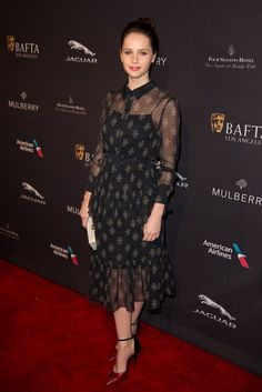 """Felicity Jones in Erdem Best Actress nominee, """"The Theory of Everything"""" [Photo by Tyler Boye]"""