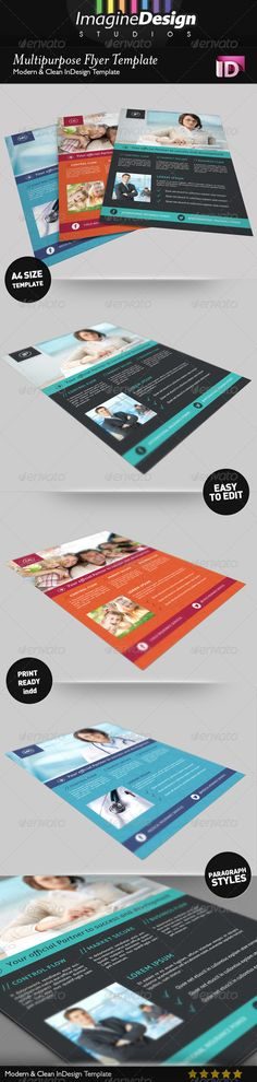 Multipurpose Flyer Template #GraphicRiver Multipurpose Flyer Template Multipurpose Flyer Template it is a professional and clean InDesign Flyer template that can be used for multipurpose flyers. This item consists of a front and back that are fully editable and customizable. The design has a great selection of high quality page layouts, giving you a document you can use straight away, without having to design further pages. Features : 3 pages A4 size 210×297mm Bleed 3 mm Print Ready CMYK 300…
