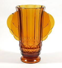 Jobling Art Deco glass vase