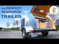 Hand-Built Teardrop Camper Trailer with Solar Power & Running Water - Perfect Mini RV - YouTube