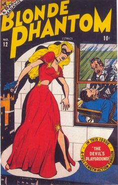 "Grrls--blonde phantom  See my ""Alphabet of Retro-Vision Women, 1940's/1950's."