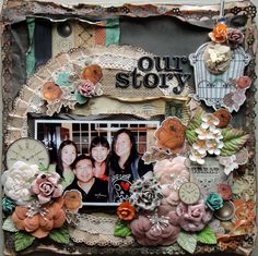 """Our Story *My Creative Sketches* - Scrapbook.com Kaisercraft """"Miss Empire"""" collection"""