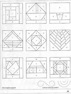 Quilt Country - Marta González - Álbuns da web do Picasa Quilt Square Patterns, Paper Piecing Patterns, Patchwork Patterns, Pattern Blocks, Quilting Templates, Quilting Tools, Easy Quilts, Mini Quilts, Foundation Paper Piecing