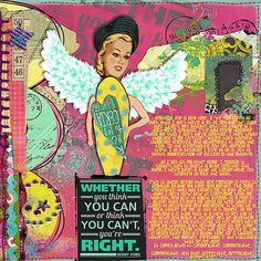 New July Theme: My Vision for 2012 – AMBITION | Studio Tangie. Art Journal Page by Julie Ann Shahin