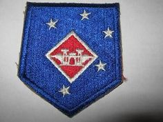 VTG WWII 1ST MARINE AMPHIBIOUS CORPS PARATROOPERS AVIATION ENGINEERS PATCH