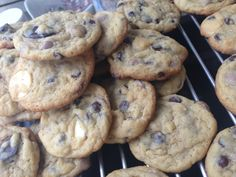 Caramel, white and choc chip cookies