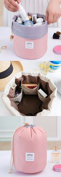 Woman Cosmetic Storage Kit Toiletry Kit Bathroom Amenities Travel Storage Bag is cute and cheap-NewChic. Cosmetic Storage, Travel Cosmetic Bags, Bag Storage, Cosmetic Kit, Storage Ideas, Travel Toiletries, Craft Storage, Travel Bags For Women, Women Bags