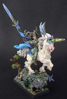 Finely painted miniatures by a respected Canadian artist. Specializing in models for fantasy, roleplaying, collectible miniatures and related products. Also a professional painting service. Warhammer Wood Elves, Warhammer Eldar, Warhammer Figures, Warhammer Paint, Warhammer Fantasy, Warhammer Aos, Paint Themes, Wood Elf, High Elf
