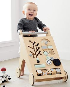 Cutest First Birthday Gifts A By - Gift Ideas For Baby Boy Birthday 1st Birthday Gifts, Baby Boy 1st Birthday, 1st Birthday Ideas For Boys, All Toys, Kids Toys, Crate And Barrel, Wooden Playset, Woodworking Toys, Woodworking Projects
