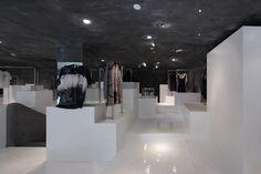 Volcanic Slab D2C flagship store by 3Gatti Architecture Studio, Hangzhou, China