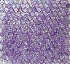 Penny Round Purple Iridescent Glass Tile Now On Clearance! Perfect for a girly bathroom or fun swimming pool! Only $14.35!