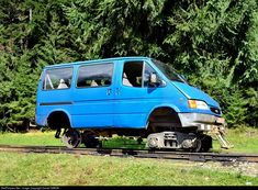 RailPictures.Net Photo: Unknown CFF Romania Forestry Railway Ford Transit rail vehicle at Viseu de Sus, Romania by Daniel SIMON