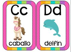 Abecedario animales formato tarjetas imprimibles - Imagenes Educativas Animal Alphabet, Speech Language Therapy, Speech And Language, English Activities, Preschool Activities, Alfabeto Animal, School Worksheets, English Book, Baby Learning