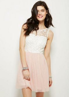 Sequin Lace And Tulle Dress
