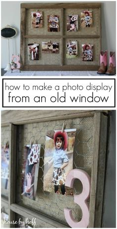 How to Make a Photo Display From An Old Window via House by Hof