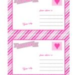 Free Valentines Day Printables  cute pink postcards    @Printable Party Shop  http://www.printablepartyshop.com
