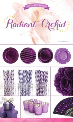 """Every new year brings new and exciting trends and in the world of wedding & event planning, trends are essential to either embrace or shun. If you're planning on throwing an event with a fresh theme, you should focus your color palette around Pantone's """"Color of the Year"""" for 2014, Radiant Orchid! #timelesstreasure"""