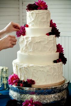 I love simply decorated cakes...with flowers and fruit.