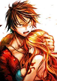 Luffy e Nami - One Piece Luffy X Nami, One Piece Nami, Image, Anime, Nalu