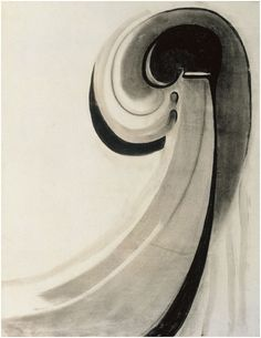 Georgia O'Keeffe, Early Abstraction, Charcoal on paper, 24 × 18 in. gift of Jane Bradley Pettit Foundation and The Georgia O'Keeffe Foundation © Milwaukee Art Museum. Photograph by Malcolm Varon. Georgia O'keeffe, Milwaukee Art Museum, Art Institute Of Chicago, Georgia O Keeffe Paintings, Judy Chicago, Female Painters, Haitian Art, Alfred Stieglitz, Whitney Museum