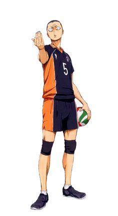 Haikyuu!! ~~ Tanaka Ryunosuke. He looks mean, but he's actually hilarious and such a dork.