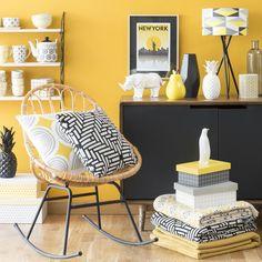 Peinture 1825 couleur jaune moutarde dans un bureau | Couleurs ...