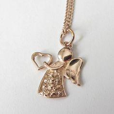 Silberketten - Engel-Kette 925-Silber-Kette Rosegold - ein Designerstück von soschoen bei DaWanda