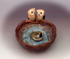 ceramic owl pinch pot trinket dish or ashtray handmade pottery Anita Reay AnitaReayArt owl art by AnitaReayArt on Etsy https://www.etsy.com/listing/208672264/ceramic-owl-pinch-pot-trinket-dish-or
