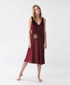 Velour sleeveless nightdress - New In - Autumn Winter 2016 trends in women fashion at Oysho online. Lingerie, pyjamas, sportswear, shoes, accessories, body shapers, beachwear and swimsuits & bikinis.