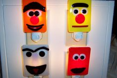Glass-fused Sesame Street night lights! Very do-able.