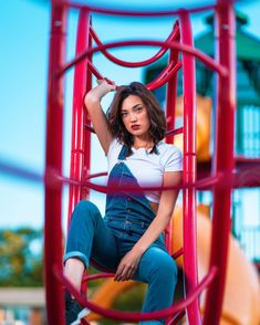 Wanna come and play? Playground Photography, Creative Portrait Photography, Portrait Photography Poses, Photography Poses Women, Tumblr Photography, Photographie Indie, Shotting Photo, Cute Poses For Pictures, Best Photo Poses