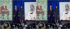 Ο Barack και η Michelle Obama παρουσίασαν στο κοινό τα επίσημα πορτρέτα τους, ζωγραφισμένα από τους καταξιωμένους Αφρο-αμερικανούς καλλιτέχνες Kehinde...