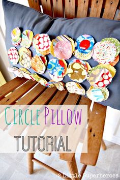 Use up scrap fabric with this simple pillow tutorial.