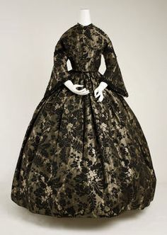 Dress  1850s  This is so gorgeous.