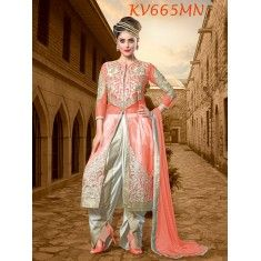 Eid Special Designer Orange Heavy Net  Party Wear Dhoti Salwaar Suit-KV665MN( ARTI -525 )Karishma