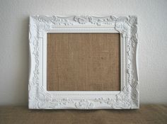 White Framed Memo Board. Shabby Chic Home Decor. by BlusteryCharm, $36.00
