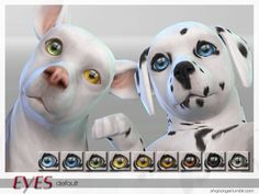 Dog Eyes Default Replacement for The Sims 4