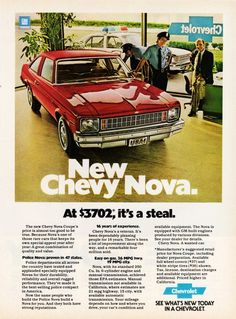 1978 chevy nova advertisements | Image of the 1978 Chevrolet Nova Coupe advertisement: New Chevy Nova ...