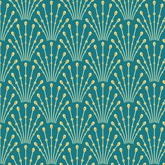 art deco beads - peacock fabric by coggon_(roz_robinson) on Spoonflower - custom fabric