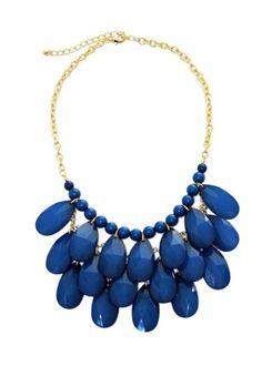 Cobalt Blue Teardrop Necklace