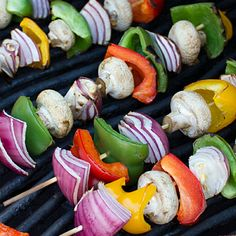 Grilled Vegetable Skewers with a Balsamic Vinaigrette