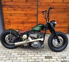 RATFINKCHOPPER Harley Bobber, Bobber Chopper, Custom Wheels, Custom Bikes, Harley Davidson, Bike Parts, Old Trucks, Cars And Motorcycles, Vehicles