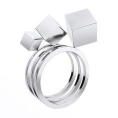 Cubos Ring Set