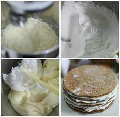 Russian Honey Cake Medovik - masam manis Russian Honey Cake, Gelatin, Asian Recipes, Telur, Icing, Desserts, Food, Tailgate Desserts, Jello
