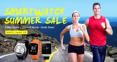 Smartwatch Summer Sale, Flash Deal from Everbuying Smartwatch, Summer Sale, Coupons, Gadgets, Activities, Sports, Coupon, Smart Watch, Sport