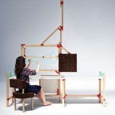"""""""Patch Project"""" - Beza Projekt. Dies ist ein Typ von Gelenken für DIY Möbel, die Pflaster aus einer Erste-Hilfe-Kit ähneln. Es besteht aus Kreuzen und Streifen aus Blech. Jedes Verbindung setzt sich einer Reihe von Winkeln zusammen, wenn sie zur Standardprofile aus Weichholz aus dem Baumarkt kommen."""