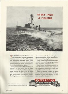 1942 Ww Ii Kermath Marine Engines Ad Palmer Scott 38 39 Coast Guard Picket Boat Military