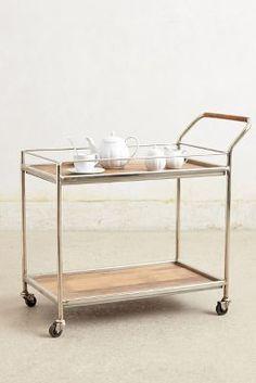 Anthropologie Wooden Bar Cart
