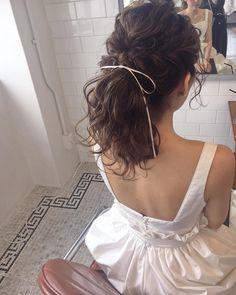 ウェディングヘア リボンアレンジ wedding hair* #sakinchohair #hairarrange#hair#arrange#hairset#ヘアアレンジ#アレンジ#ヘアセット#豊橋#美容室#ルプラガーデン#ポニーテール#ウェディングドレス#花嫁ヘア#花嫁#プレ花嫁#ブライダルヘア#ウェディングヘア #wedding #hairstyles #bridalhair #ウェディング #ヘアスタイル #ポニーテール #リボン #ribbon #bow