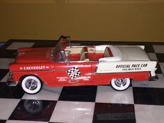 1955 Chevrolet Belair Indy Pace Car 1/18 Diecast Car Metal Car Model Car Vintage Car VW Yellow Solido Bug Antique Car Auto Fathers Day Chevy by ChasingToyCars on Etsy